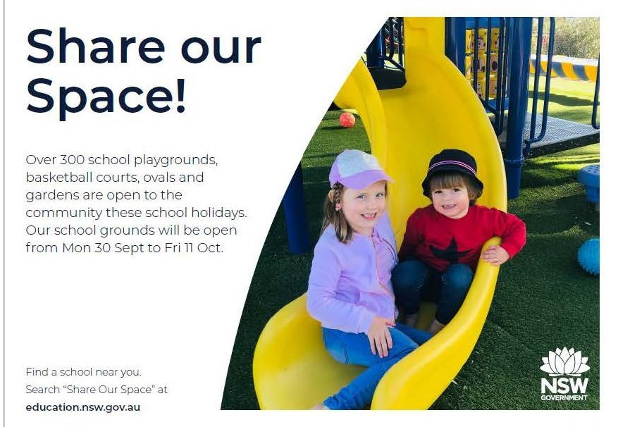 Share our Space during the school holidays